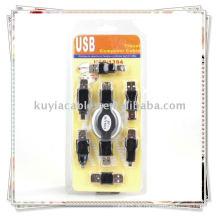 6in1 USB Adapter Travel Kit Kabel zu Firewire IEEE 1394
