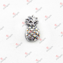 10mm Crystal Pineapple Slide Charm for DIY Accessories (JP10)