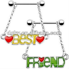 Best friend nipple ring body jewelry nipple barbell piercing