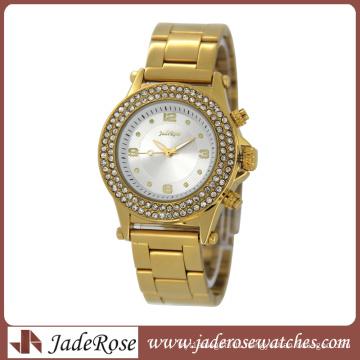Fashion Alloy Set Watch Gold Watch (RB3177)