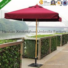 2m carré de parasol de jardin en bois de teck pour les meubles extérieurs (WU-S42020)