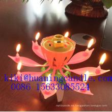 Vela de la música de la flor para el uso de la torta / 14 productos calientes de la venta