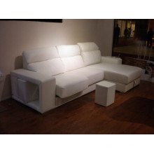 Echtes Leder Chaise Leder Sofa Elektrisch Verstellbares Sofa (708)