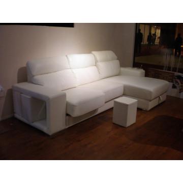 Натуральный кожаный кожаный диван для дивана с электроприводом (708)