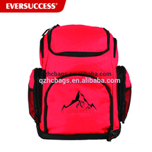 Large Capacity Red Swimming Backpack With Wet Compartment For Swimming