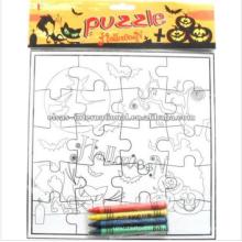Cadeau et artisanat, enfants enfants éducatifs Halloween puzzle dessin peinture puzzle