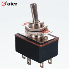 KN3-3 12MM Double Pole Double Throw 6Pin ON ON Toggle Switch 5A 2 Pole