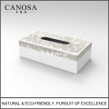 White Seashell Napkin Box for Five Star Hotel