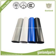 Lona recubierta de PVC para remolques laterales de cortina blanca