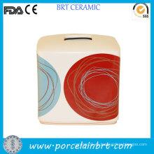 DOT Swirl Fancy Design Caja cuadrada de papel de tejido