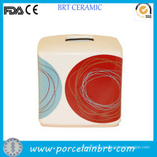 DOT Swirl Fancy Design Square Tissue Paper Box