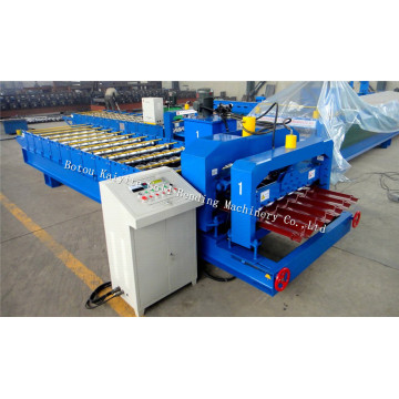 European+Step+Glazed+Roof+Tile+Roll+Forming+Machine