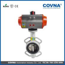 Pneumatisches Absperrklappe für Wasser, Gas, Säure, Dampf (oder manuell / pneumatisch)