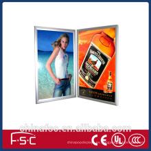 Delgadez plata Perfil aluminio led caja de luz comercial
