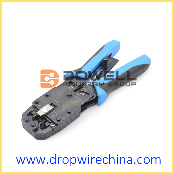 RJ45 Module Plug  Crimping Tool With Stripper