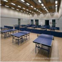 Ittf Certificado Piso de PVC de alta calidad Barato Deportes Rodillo Piso / estera para Tenis de Mesa 4.5 Espesor