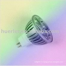 Haute puissance E27 GU10 GU5.3 MR16 24v 12v 3w projecteur LED alimenté par énergie solaire