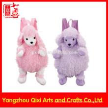 Boa qualidade crianças pelúcia zoológico animal brinquedos ovelhas mochila de pelúcia