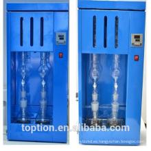 Aparato de extracción de Soxhlet de vidrio, aparato Soxhlet de laboratorio