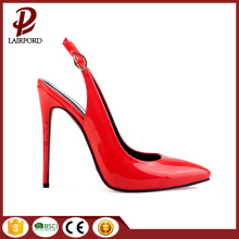thin red rubber heel comfortable insole sandals