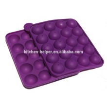 Molde de Lollipop moderno de 20 cavidades Molde do chocolate e de Lollipop do silicone