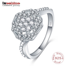 Rose Flower Silver Jewelry Ring for Girl Gift Sri0021-B