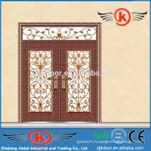JK-C9047 модная верхняя продажа фарфоровая роспись резьба медный арт металлическая дверь