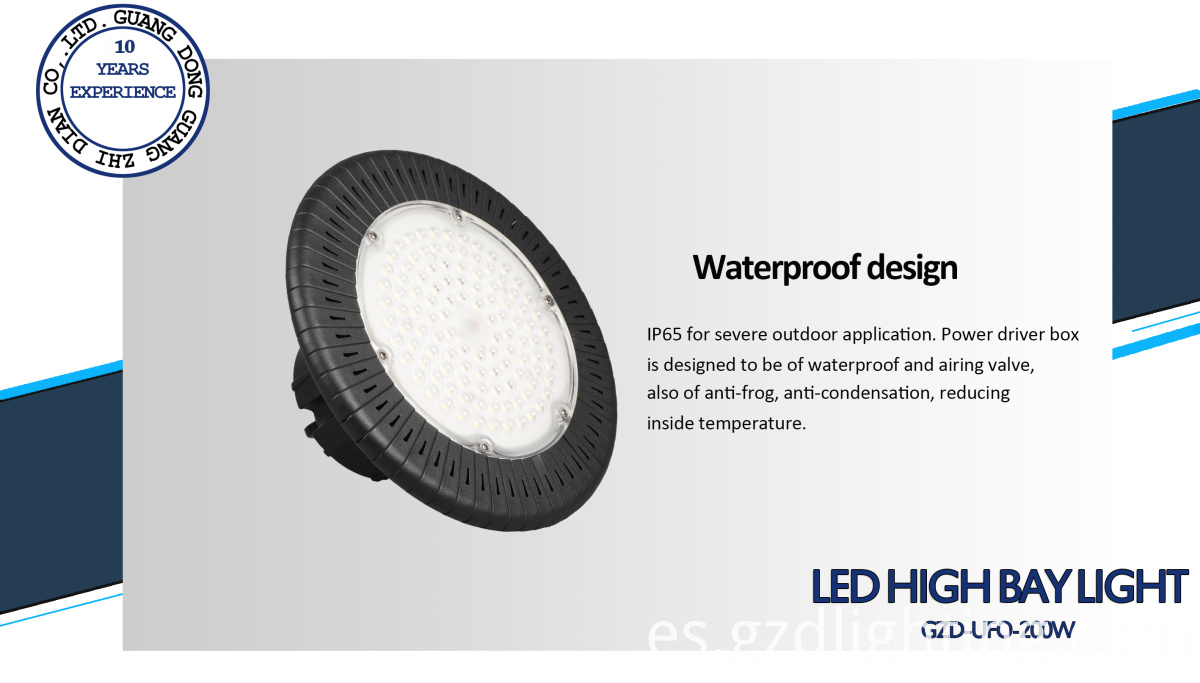 200W waterproof UFO high bay light