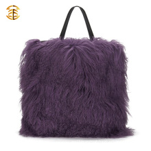 Mongolia Sheep Fur Handbag Genuine Lamb Fur Tote Bags