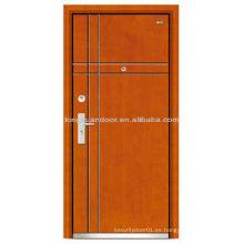 Puerta de acero de China precios bajos acero de puerta de madera