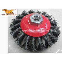 Twist Knot Stahldraht Cup Pinsel/Union Industriebürsten