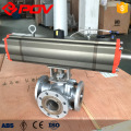 3way flanged dn15 1/2'' stainless steel ball valve