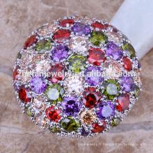 2018 designer bagues de mariage en platine bagues de mariage bague en pierre multicolorful