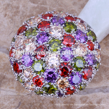 2018 Designer Platin Trauringe Trauringe multicolorful Stein Ring