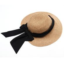 Custom Label fancy Cotton Fisherman Hat with black bow tie
