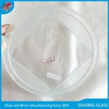 Alibaba Trade Assurance Grade A polished tempered glass covers round glass light cover