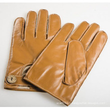 Men′s Fashion Outside Sewing Sheepskin Leather Driving Gloves (YKY5202-1)