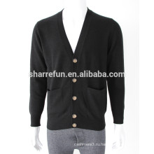 классический кнопка кардиган V шеи мужчин кашемировый свитер