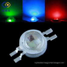 3% light decay 3 watt rgb led 3 in one led diode(3 years waranty)