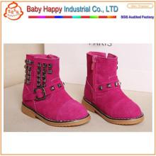 Clase de diseño cuero genuino transpirable niños zapatos para las niñas