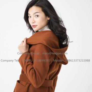Kotak Cashmere Medium Hooded For Women