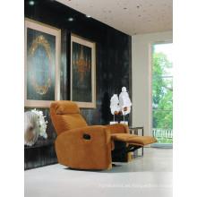 Sofá eléctrico del sofá del reclinador del sofá del cuero de la calesa del cuero genuino (845)