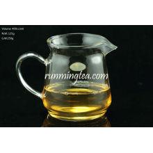 Taza de jarra de triángulo de vidrio de borosilicato de alta calidad