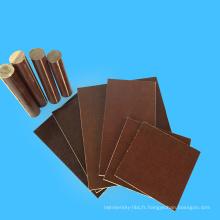 Application électrique drap de coton phénolique en tissu marron