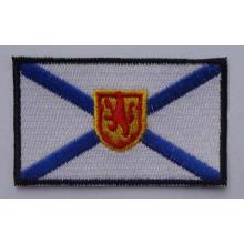 Изготовленная на заказ квадратная вышивка тканые патч с логотипами (GZHY-патч-006)