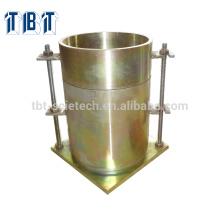 Molde ASTM BS CBR com colar e base perfurada