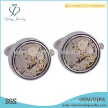 Kupfer Vintage Uhr Manschettenknöpfe, schwimmende locket Uhr Bewegung Manschettenknopf