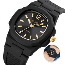 SKMEI 1717 Custom Brand Quartz Watches Silicone Band OEM Men Wristwatch Wholesale