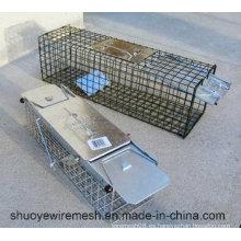 Humano conejo Rat Mink Gray Squirrel Pequeño mapache Possum Cat plegable Animal vivo Cage Trampa
