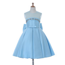 Blau / Weiß Blumenmädchen Kleid für Hochzeit und Zeremoniell